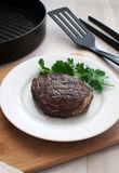 Grilled beef steak loin. With cilantro Stock Photos