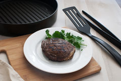 Grilled beef steak loin. With cilantro Royalty Free Stock Image