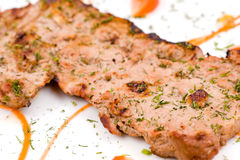 Grilled beef steak, macro Stock Photography