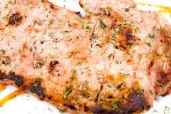 Grilled beef steak, macro Royalty Free Stock Images