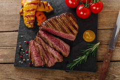Grilled beef steak rare Royalty Free Stock Image
