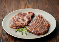 Grilled beef steak Royalty Free Stock Photography