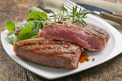 Grilled beef steak Stock Photos