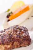 Grilled beef steak with seasoning Stock Photos