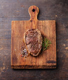 Grilled Beef steak and seasoning Royalty Free Stock Photography