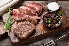 Grilled beef steak with spices Stock Image