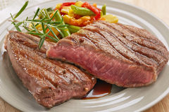 Grilled beef steak Stock Image