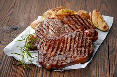 Grilled beef steak Royalty Free Stock Photo