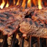 Grilled beef steaks Royalty Free Stock Image