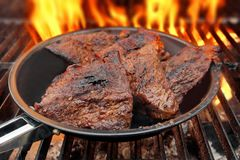 Grilled beef steaks Royalty Free Stock Photography