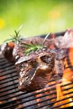 Grilled beef steaks Stock Photo