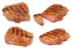 Grilled beef steaks set Royalty Free Stock Images