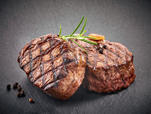 Grilled beef steaks Stock Image