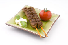 Grilled beef sticks Royalty Free Stock Photo