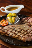 Grilled beef T bone steak Stock Photography