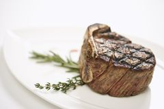 Grilled beef tenderloin. Royalty Free Stock Photos