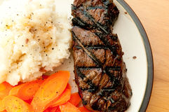 Grilled Beef Tenderloin Steak Royalty Free Stock Photos
