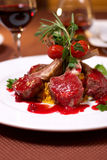 Grilled beef with tomato Stock Image