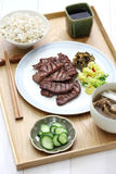 Grilled beef tongue, japanese food Royalty Free Stock Photos