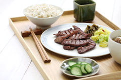 Grilled beef tongue, japanese food Stock Images