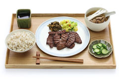 Grilled beef tongue, japanese food Royalty Free Stock Photography