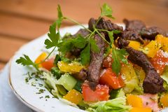 Grilled beef with vegetables Royalty Free Stock Photography