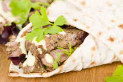 Grilled Beef Wraps Stock Photos