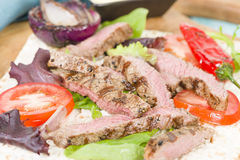 Grilled Beef Wraps Stock Image