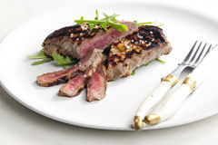 Grilled beefsteak Stock Images