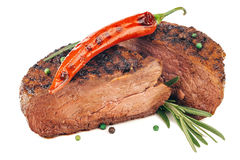 Grilled beefsteak Stock Photos