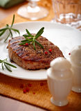 Grilled Beefsteak With Rosemary Stock Image