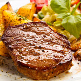 Grilled beefsteaks Royalty Free Stock Image
