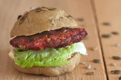 Grilled beet burger royalty free stock photos