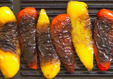 Grilled bell peppers Stock Photo