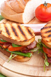 Grilled BLT sandwiches Royalty Free Stock Photo