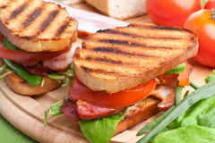 Grilled BLT sandwiches Stock Photos