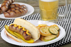 Grilled Bratwurst Royalty Free Stock Image