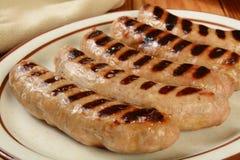 Grilled bratwurst Stock Photo