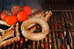 Grilled Bratwurst XXXL Stock Images