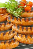 Grilled bratwursts Stock Photo
