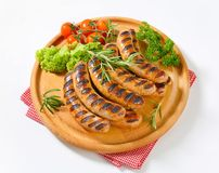 Grilled bratwursts Royalty Free Stock Images