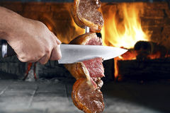 Grilled Brazilian barbecue. Royalty Free Stock Photos