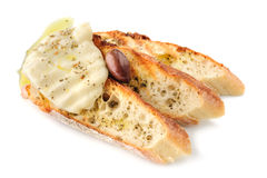 Grilled bread with cheese Royalty Free Stock Photo
