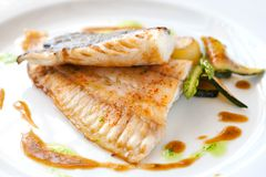 Grilled brill fish. Stock Photography