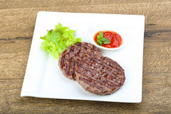 Grilled burger cutlet Royalty Free Stock Photo
