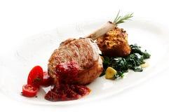 Grilled calf steak Stock Photos