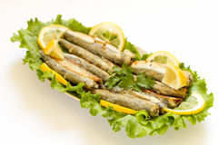 Grilled Capelin Royalty Free Stock Photography