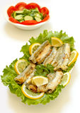 Grilled Capelin Royalty Free Stock Images