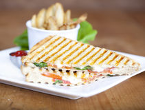 Grilled caprese sandwich Royalty Free Stock Images