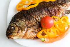 Grilled carp Royalty Free Stock Photos
